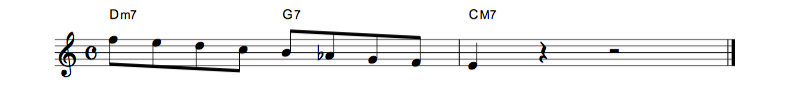 jazz sheet music lick1