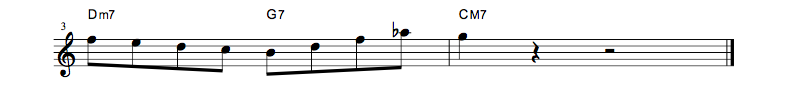 jazz sheet music lick2