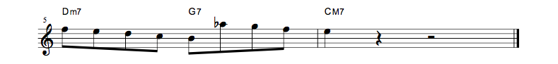 jazz sheet music lick3