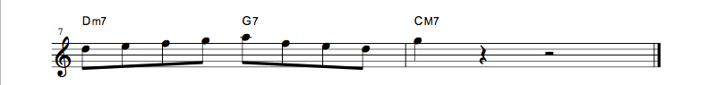 jazz sheet music lick4