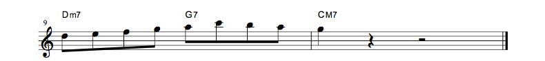 jazz sheet music lick5
