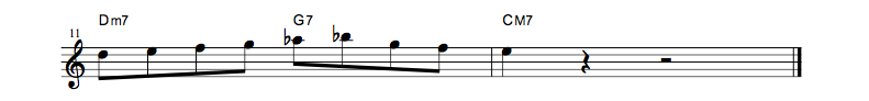 jazz sheet music lick6