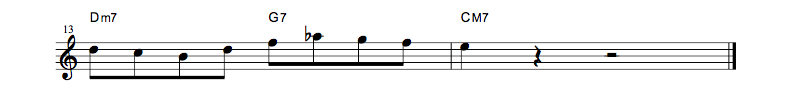 jazz sheet music lick7