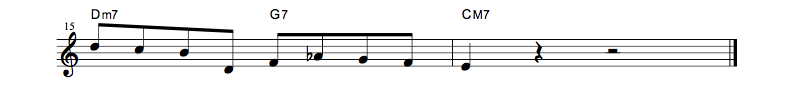 jazz sheet music lick8