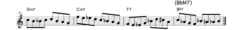 How To Use Bebop Scale?? all the things2