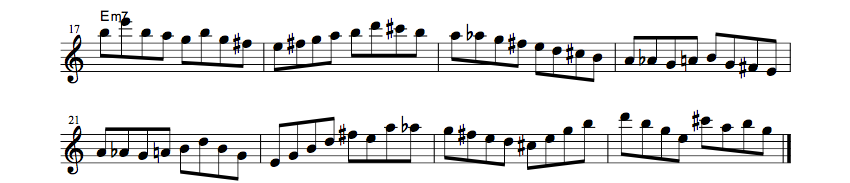How To Use Bebop Scale So What