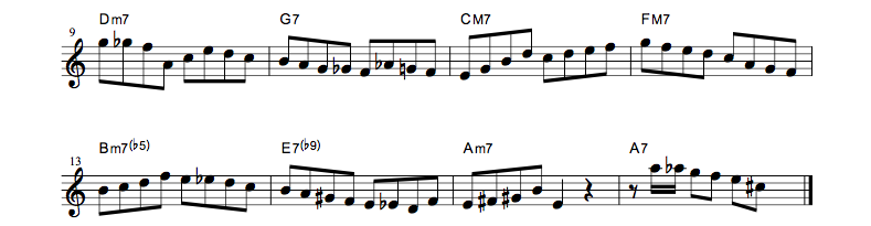 jazz sheet music bebopscale autmun2