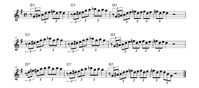 jazz sheet music 3code bluse1