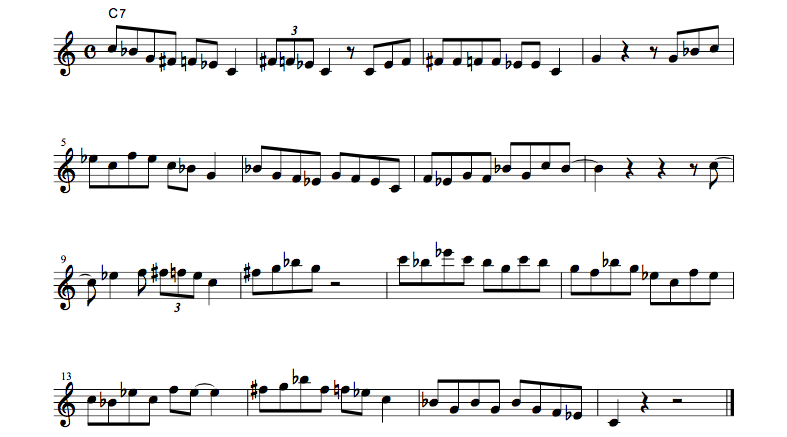 jazz sheet music bluenotescale1