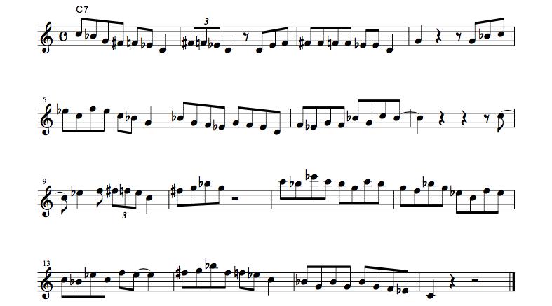jazz sheet music bluenotescale1