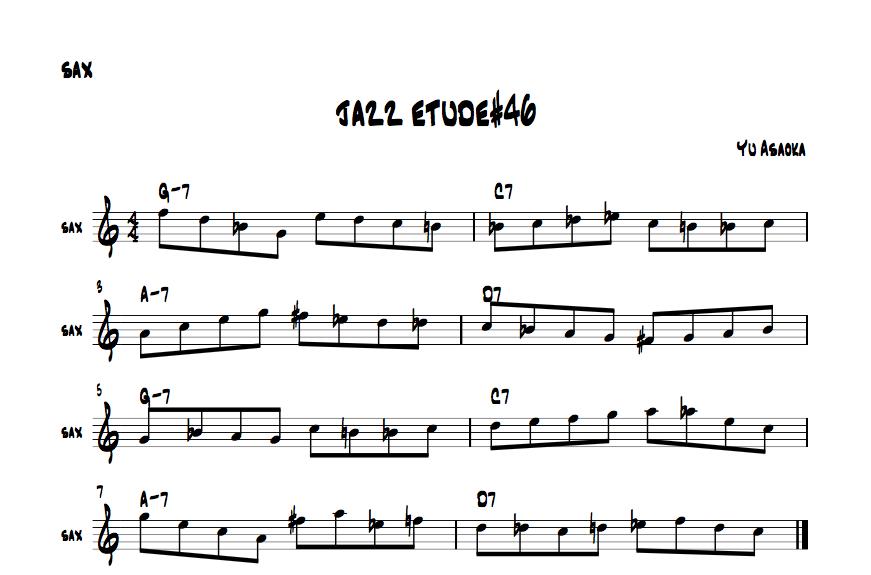 jazzsaxetude#46