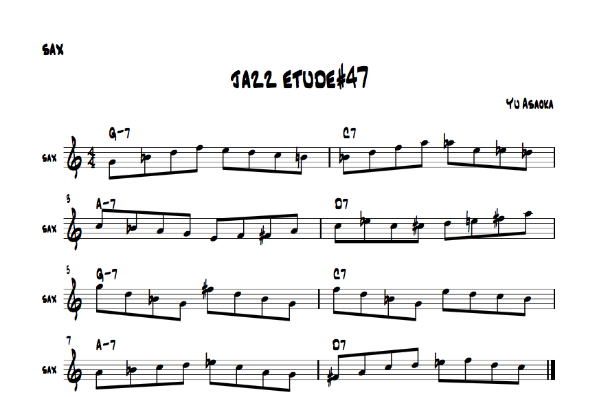 jazzsaxetude#47