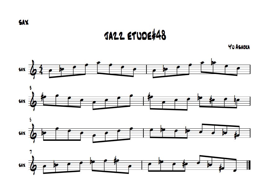jazzsaxetude#48