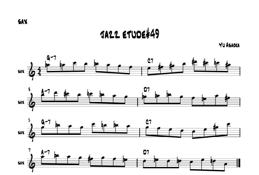jazzsaxetude#49