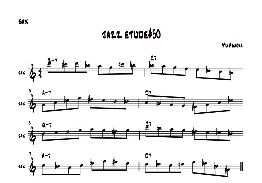 jazzsaxetude#50