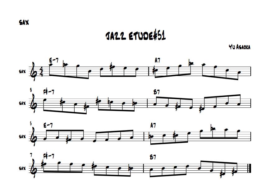 jazzsaxetude#51