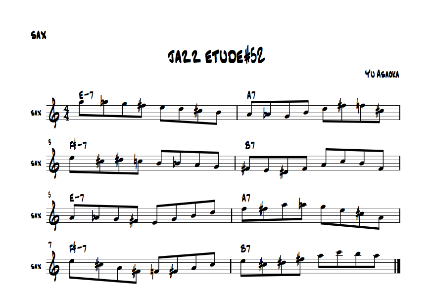 jazzsaxetude#52