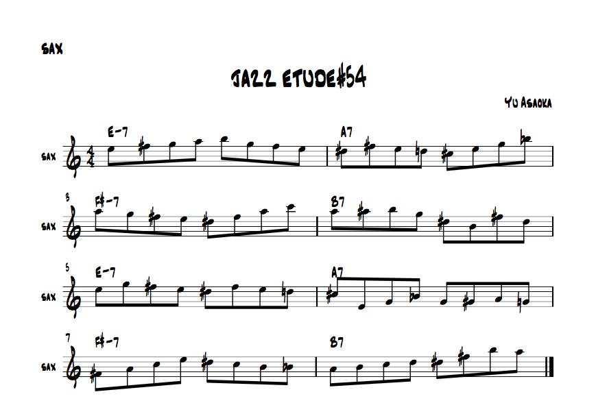 jazzsaxetude#54