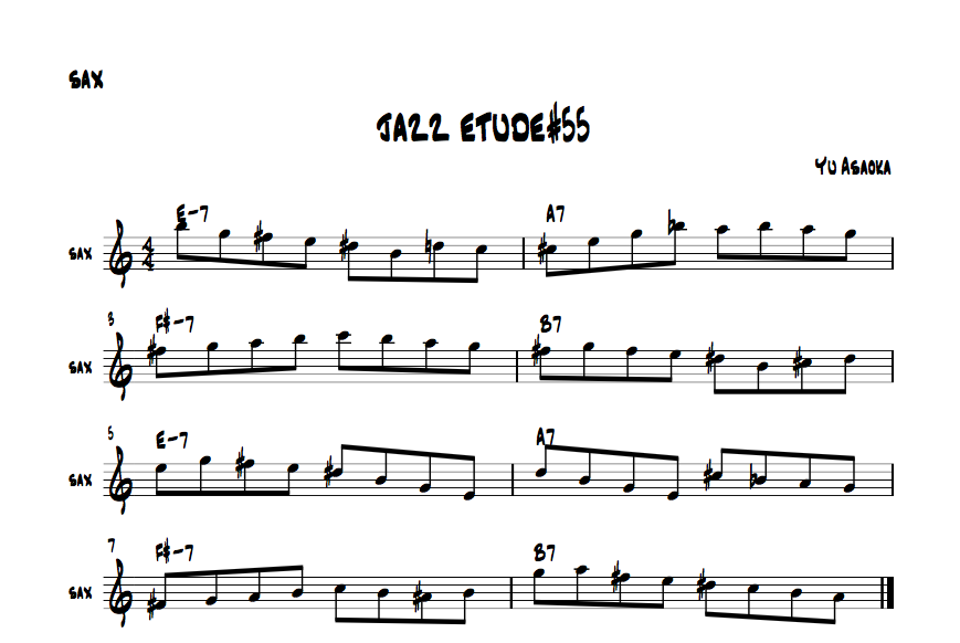 jazzsaxetude#55
